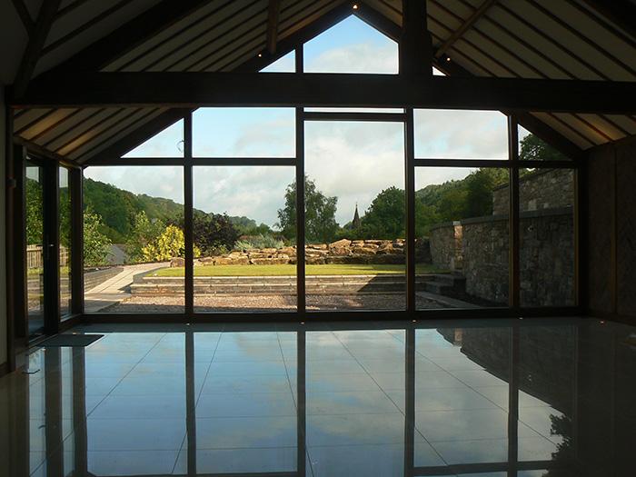 Modern conservatory dean oak