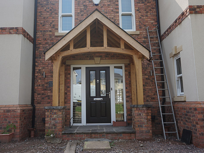 oak porch with cover