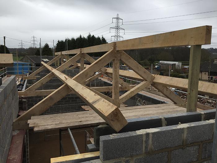 Kingpost Truss Roof by DeanOak Ltd