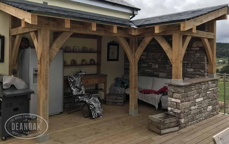Outdoor Oak Kitchen by Deanoak